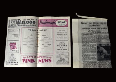 Hearts v Hibs 01.03.1958 - Scottish Cup 3rd Round (Baker scores 4)