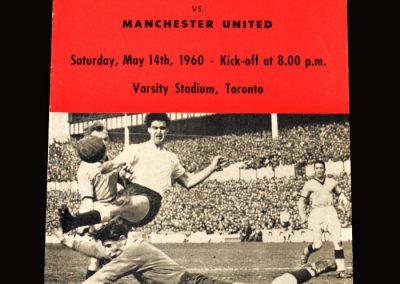 Man Utd v Hearts 14.05.1960 (in Toronto)