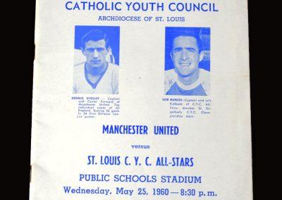 Man Utd v St Louis 25.05.1960