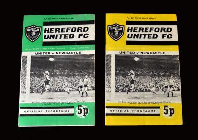 Hereford v Newcastle 05.02.1972 - postponed from 26.01.1972