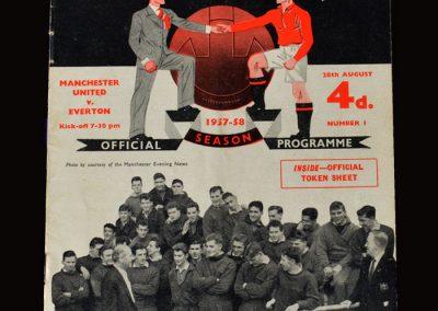 Man Utd v Everton 28.08.1957