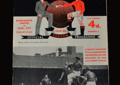Man Utd v Man City 31.08.1957