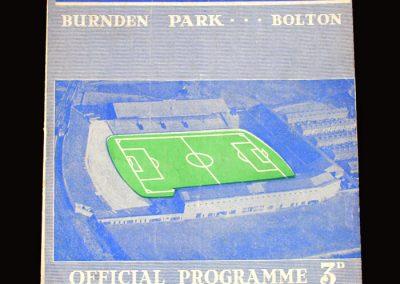 Man Utd v Bolton 14.09.1957