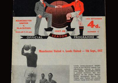 Man Utd v Blackpool 18.09.1957