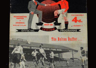 Man Utd v Arsenal 21.09.1957
