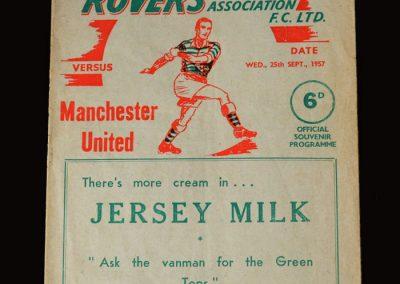 Man Utd v Shamrock Rovers 25.09.1957 - European Cup 1st Round 1st Leg
