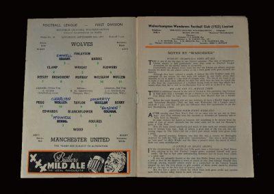 Man Utd v Wolves 28.09.1957