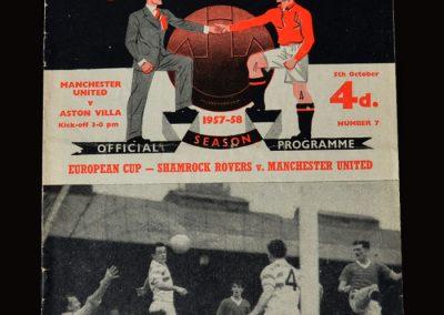Man Utd v Aston Villa 05.10.1957