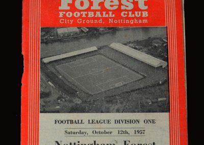 Man Utd v Notts Forest 12.10.1957