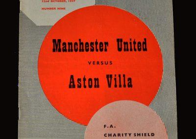 Man Utd v Aston Villa 22.10.1957 - Charity Shield