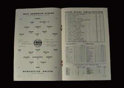 Man Utd v West Brom 26.10.1957