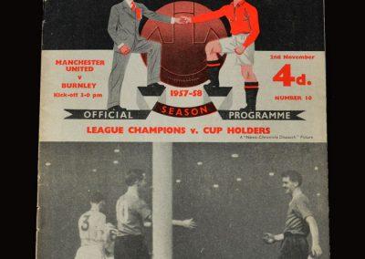Man Utd v Burnley 02.11.1957