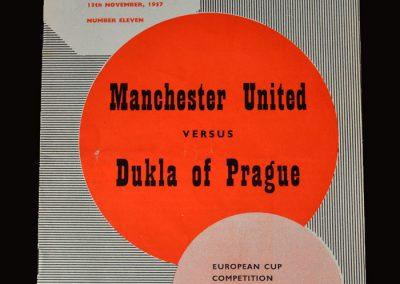 Man Utd v Dukla Prague 20.11.1957 - European Cup 2nd Round 1st Leg