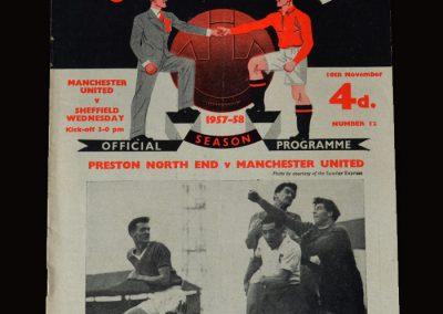 Man Utd v Sheff Wed 16.11.1957