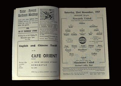 Man Utd v Newcastle 23.11.1957