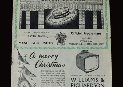 Man Utd v Luton 26.12.1957
