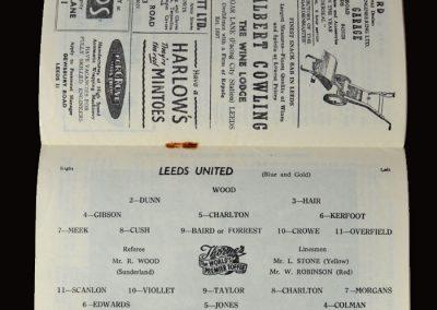 Man Utd v Leeds 11.01.1958