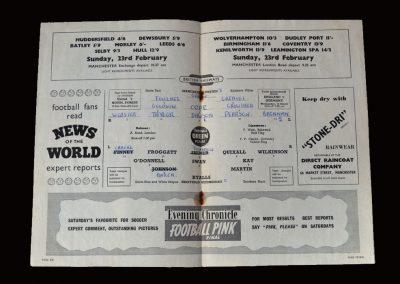Man Utd v Sheff Wed 19.02.1958 - FA Cup 5th Round