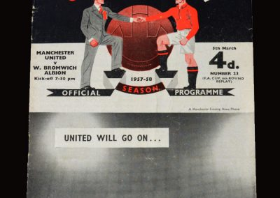 Man Utd v West Brom 05.03.1958 - FA Cup 6th Round Replay