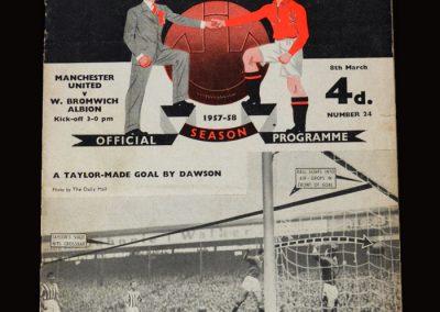 Man Utd v West Brom 08.03.1958