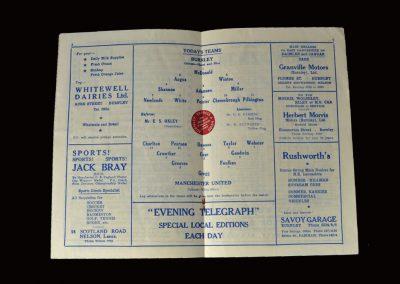 Man Utd v Burnley 15.03.1958
