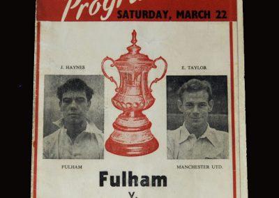 Man Utd v Fulham 22.03.1958 - FA Cup Semi Final