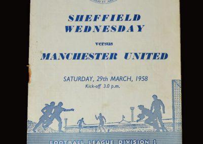 Man Utd v Sheff Wed 29.03.1958