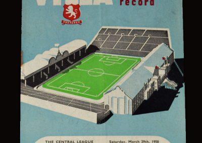Man Utd v Aston Villa 31.03.1958