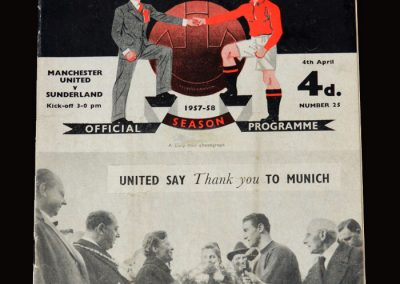 Man Utd v Sunderland 04.04.1958