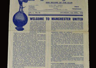 Man Utd v Spurs 12.04.1958