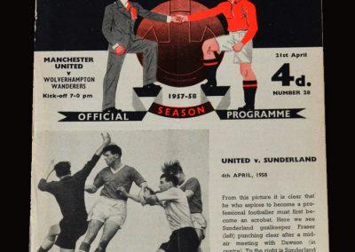 Man Utd v Wolves 21.04.1958