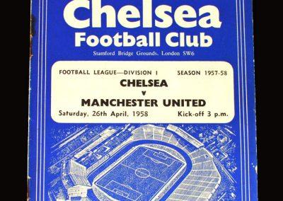 Man Utd v Chelsea 26.04.1958