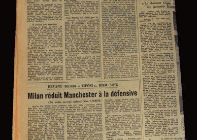 Man Utd v A.C.Milan 14.05.1958 - European Cup Semi Final 2nd Leg