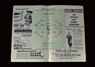 Charlton v Preston 15.09.1955 (Jimmy moves to London and the 1st Division)