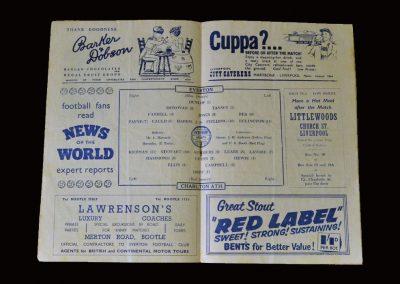 Everton v Charlton 09.02.1957 (Jimmy now at Goodison)