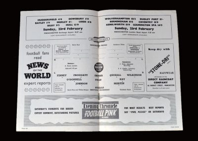 Man Utd v Sheff Wed 19.02.1958 (Peter and Tony play in this most emotional of games)