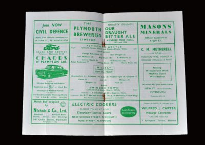 Plymouth v Swindon 11.10.1958 (Plymouth champions of Division 3)