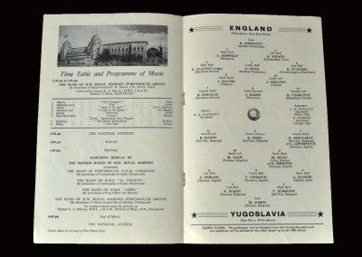 England v Yugoslavia 11.05.1960 (1st of 19 caps for peter)