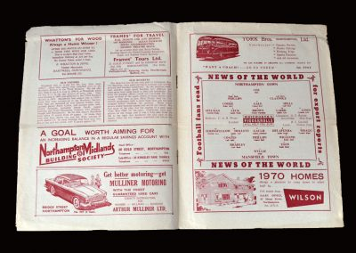 Northampton v Mansfield 10.12.1960 (Jimmy now at Mansfield)