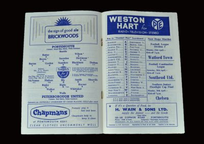 Portsmouth v Peterborough 21.04.1962 (featured in the indictments against Jimmy and Dick)