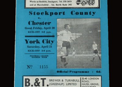 Stockport v York 21.04.1962 | Stockport v Chester 20.04.1962 (featured in the indictments against Jimmy and Dick)