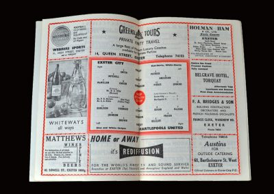 Exeter v Hartlepool 09.03.1963 (Brian Philips and Ken Thompson. 3rd indictment count 1)