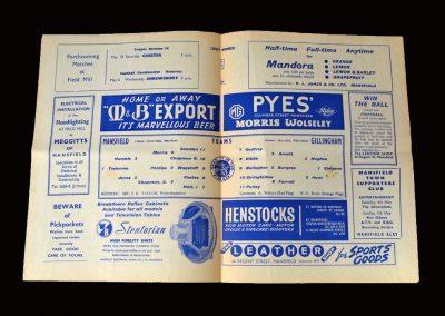 Mansfield v Gillingham 04.05.1963 (Brian Philipps and Sammy Chapman)
