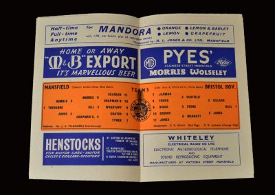 Mansfield v Bristol Rovers 11.04.1964