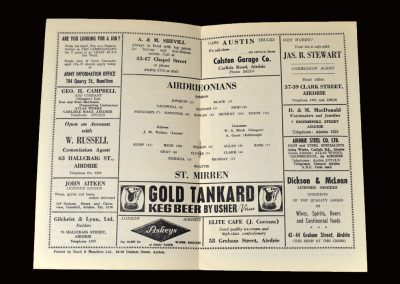 Airdrie v St Mirren 18.04.1964 (Dick listed in the programme but I doubt he played)
