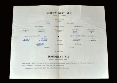 Mersey Beat 11 v Downbeat 15.11.1964 (The only team left for Tony)