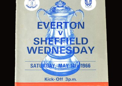 Everton v Sheff Wed 14.05.1966 - FA Cup Final (Peter and Tony would have been facing each other just as in 1954)