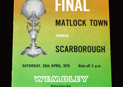 Matlock v Scarborough 26.04.1975 (FA Trophy at Wembley)