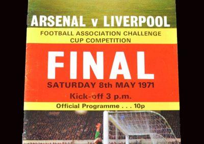 Arsenal v Liverpool 08.05.1971 - FA Cup Final
