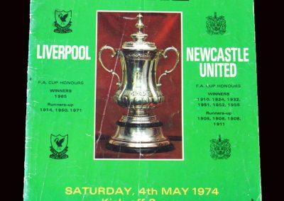 Liverpool v Newcastle 04.05.1974 - FA Cup Final